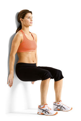 core-exercises-wall-squat